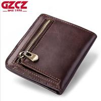 Men Women Retro Genuine Leather Cowhide Wallet Bifold Credit Card Holder Purse
