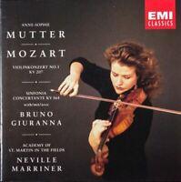 MUTTER, GIURANNA, MARRINER mozart violin concerto no 1, sinfonia concertante CD