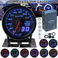 2'' 52mm Jauge température eau 20-120℃ LED Numérique Aiguille Capteur 10 Couleur