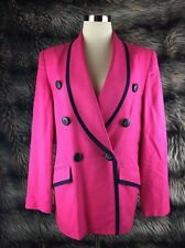 CHRISTIAN DIOR JACKET HOT PINK VINTAGE CAREER BLAZER SZ 8 TIMELESS FAST SHIP