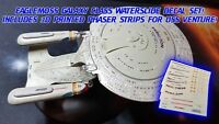 GALAXY CLASS REGISTRY UPDATE DECALS - Star Trek Starships EAGLEMOSS - NO MODEL