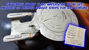 GALAXY CLASS REGISTRY UPDATE DECALS - Star Trek Starships EAGLEMOSS - NO MODEL