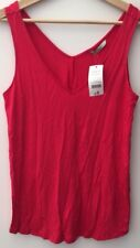 Ladies V-Neck Vest Top Pink Size 10 George BNWT <NH9043