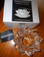 "SHANNON CRYSTAL CANDLE HOLDER BY GODINGER Large 5.5"" Tulip Lighting by Design"