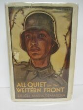 ALL QUIET ON THE WESTERN FRONT by Erich Maria Remarque, 1929 1st Printing in DJ