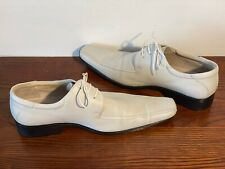Men Formal / Casual / Wedding White Leather Lace Up Shoes EU Size 44 UK Size 9.5