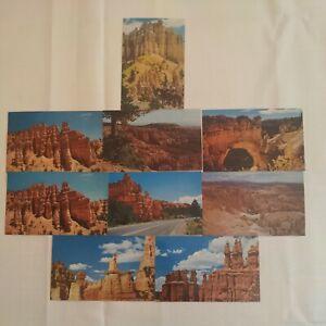 Lot 9 Bryce Canyon National Park Postcards Utah Rock Formation Scenic Desert