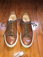 Buttero Sneakers Handmade Brown Leather Sneakers - Size 42