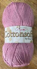 Half King Cole 100 Cottonsoft DK 100gm Balls 9 Colours 1577 Rose Petal