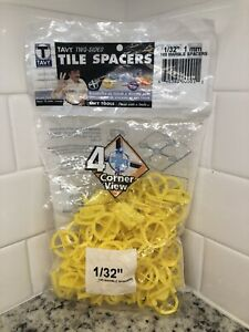 """Tavy Tile Marble Flooring Spacers 1/32"""", 100 Per Bag"""