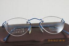 Charmant Titanium Rimless Eyeglass Frame New Royal Blue Unisex MinimalLiteweight