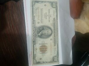 1929 $100 ONE HUNDRED DOLLAR FEDERAL RESERVE NOTE NATIONAL CURRENCY CHICAGO
