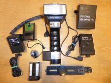 Metz SCA300 45CL-4 handle mount flash + SCA3000 + bracket + Quantum Radio Slave