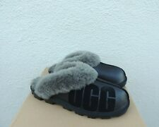 UGG BLACK COQUETTE UGG SPARKLE SHEEPSKIN SLIPPERS, WOMEN US 9/ EUR 40  ~ NIB