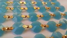 3 Yard Opaline Aqua Chandelier Crystal Chain Octagon Prism Garland Wedding Decor