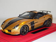 1/18 Mansory Ferrari 599 Stallone in Gold Limited 15 pcs Leather Base
