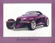 Plymouth Prowler Prospekt USA 1 Bl. brochure Auto Autoprospekt PKWs Broschüre