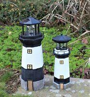 SOLAR POWERED LIGHTHOUSE  ROTATING LED GARDEN LIGHT HOUSE DECOR