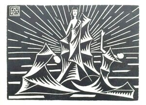 ' THE PROPHET ' By ANDERNACHT - Limited Edition 1922 Woodcut / Woodblock Print