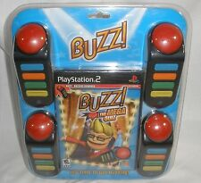 Buzz The Mega Quiz Bundle (Sony PlayStation 2, 2007) + hollywood quiz