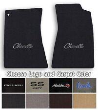 Chevelle-Malibu 2pc Classic Loop Carpet Floor Mats-Choice of Color & Logo