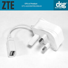Original ZTE STC-a 22 o 50 I 700 USB-B Enchufe de la UE Cargador USB salida 5V/700mA Blanco
