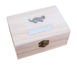 Ferret Wooden Pet Ashes Urn or Burial Cast with FREE Engraving 126