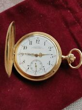 A. LANGE & SOHNE HUNTER CASE POCKET WATCH 585 GOLD