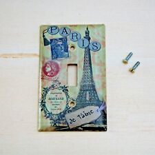 Paris Light Switch Cover Plate Single Toggle Eiffel Tower Vintage Shabby Chic