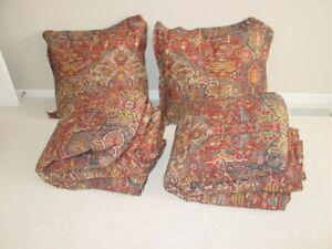 Pair Ralph Lauren Dignitary ESTATE Conservatory Comforter Twin Persian Rug