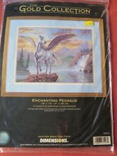 NEW Dimensions GOLD COLLECTIONS Enchanting Pegasus Cross Stitch Kit 35023