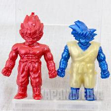 RARE! Dragon Ball Z Son Gokou Mini Figure 2pc Set Metal color ver. JAPAN ANIME