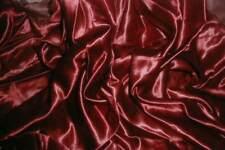 1880s Antique Victorian French Silk Duchesse Satin Dressmaker Fabric Wine Red