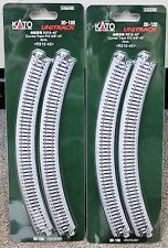 LOT of 2 - N Scale KATO UNITRACK 20-120 Curved Track R315-45* 4 Pieces per Pack
