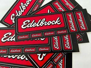 EDELBROCK Decal Sticker Chevy Ford Mopar Domestic Import mini sheet 7