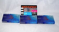3x NEW Sony HI-FI 60 Minutes Normal Bias Lot with Memorex 60 min Audiocasettee