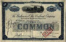 Baltimore & Ohio B&O Railroad Company Stock Certificate CSX Blue