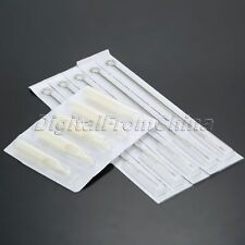 50pcs Stainless Steel Sterilized 9RL Tattoo Needles+50pcs Plastic 9RT Tubes Tips