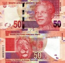 South Africa 50 Rand Banknote World Paper Money Currency Unc Pick p135 2012 Bill