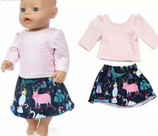 ⭐️BRAND NEW⭐️Clothes To Fit 43cm Baby Born Doll - Skirt & Top