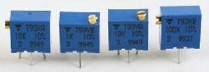 Vishay T93 TOP ADJUST TRIMMER POTENTIOMETERS 9.7x2.2mm 50Pcs 1kΩ 0.5W 21-Turns