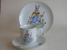 Vintage Vohenstrauss Johann Seltmann Easter Rabbit & Chick Trio Cup Saucer Plate