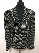 KENZO PARIS Giacca Donna Pois Rockabilly Pin Up Woman Jacket Blazer Sz.M - 44