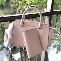 Michael Kors Women Leather Satchel Crossbody Messenger Handbag Purse Bag+Wallet
