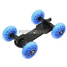 Pro Table Top Dolly Mini Car Skater Track Slider For DSLR Video Film Camera Rig