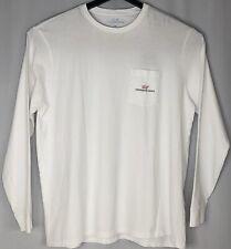 Vineyard Vines Men Classic Fit White Long Sleeve Crew Neck Logo T Shirt 2xl