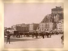Italia,NAPOLI,Pizzofalcone da Santa Lucia,Fr° Pesce foto.,albumen c.1880 - 20x25