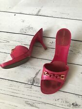 £750 VINTAGE Authentic Louis Vuitton Sandals in Bright Pink, Plastic Sole Size 5