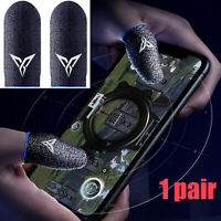 1 Pair x Gaming Thumb Finger Sleeve Sweat-Proof Glove for PUBG Mobile Game Parts