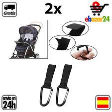 2x Gancho clip bolsas silla bebe carrito cochecito colgar bolsa clips argolla *E